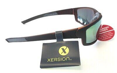 Xersion - Mirror Green Orange Sunglasses Polarized Lenses (Orange Mirror Sunglasses)