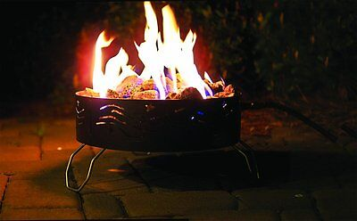 Propane Campfire (Portable Propane Campfire Pit for Campgrounds,Patios,Tailgates w/Storage Bag-NEW )