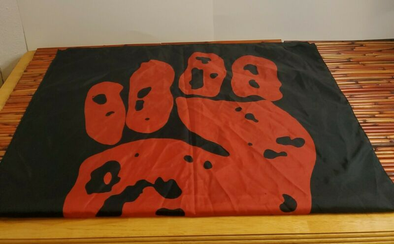 RARE 1994 Rage Against The Machine Banner Flag Italy Vintage Fist 30x41