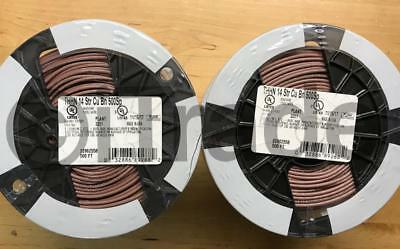 Lot Of 2 Southwire 22962558 500-ft 14-awg Stranded Brown Copper Thhn Wire Roll