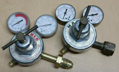 Used Cutting Torch Harris Regulators ... 25-100c Oxygen 25-15c Acetylene