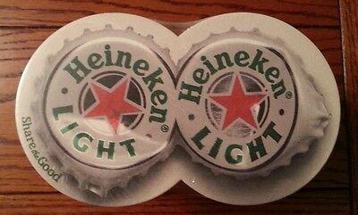 HEINEKEN BEER COASTERs.  1 REAM OF Xl 2 sided coasters ( buy1 get 2 free)