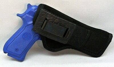 1911 Auto Frame - SUEDE TUCKABLE CONCEALMENT HOLSTER FITS LGE FRAME Colt Springfield 1911 AUTO BLK