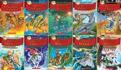 Geronimo Stilton KINGDOM OF FANTASY Children's Series HARDCOVER Collection 1-10