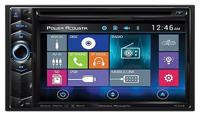 Power Acoustik PD-624HB Double DIN CD/DVD Player Bluetooth Front USB MHL Android