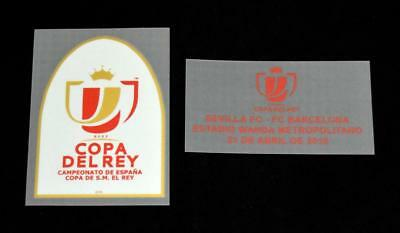 Official Seville Copa Del Rey 2018 Football Shirt Patch/Badge Match detail Home image