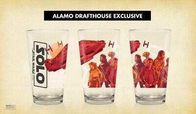 Solo  A Star Wars Story Pint Glass Mondo Alamo Drafthouse In Hand