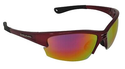 RayZor Uv400 Black Sports Wrap Sunglasses Red Iridium Mirrored Lens RRP£49 478
