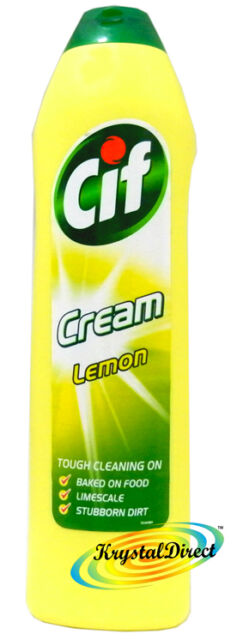 5 x Cif Cream Lemon 500ml Tough Cleaning