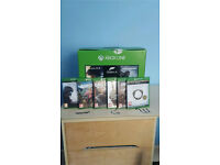 Xbox One with games and accessories