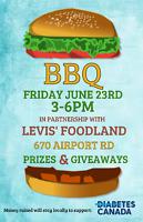 Diabetes Canada BBQ Fundraiser Friday, June 23rd
