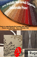 Super low prices on wall to wall carpet