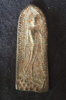 Plate Votive Apsara Amulet Figure Miniature Sacred Thailand P65