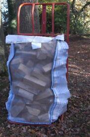 Barrow bag of mixed seasoned logs for sale