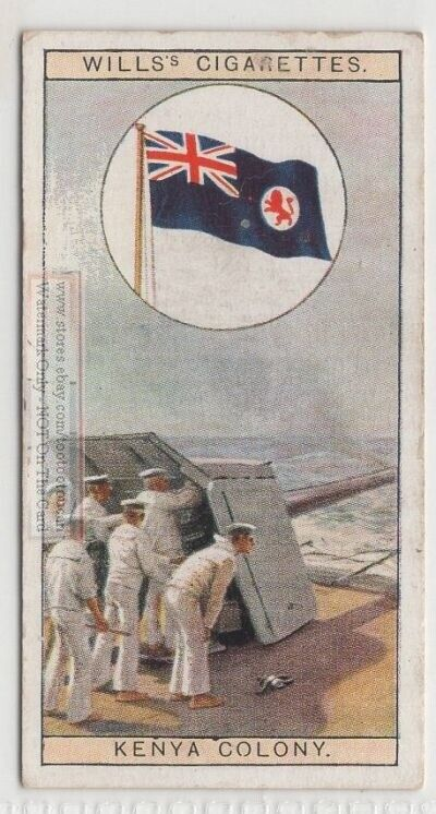Flag of Kenya Colony and Protectorate  Britain Africa 80+ Y/O Ad Trade Card