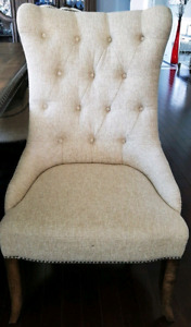 Tufted High-Back Hooker Dining Room Chairs