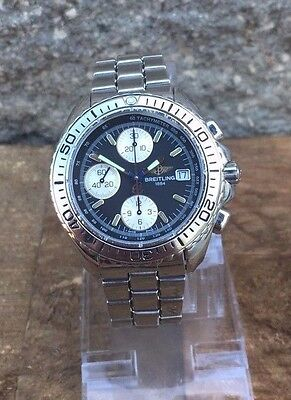 Men's Breitling Automatic Chronograph Black Dial A13051- Shark