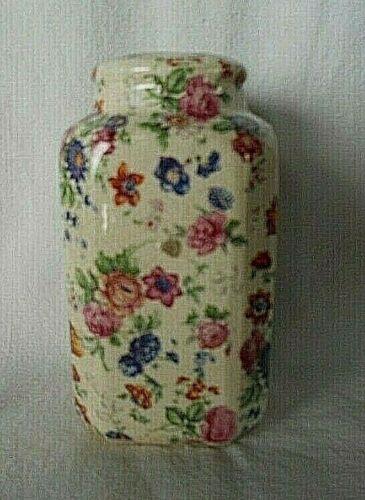 "Vintage Chintz Flowers Single Salt or Pepper 5"" Range / Master Shaker Japan"