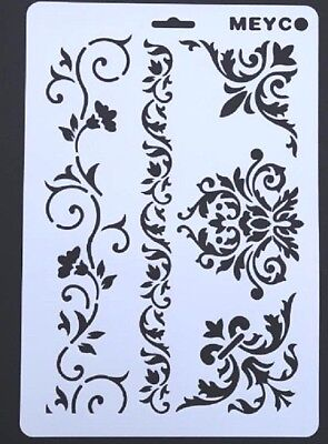 Re-usable A4 Decorative Shapes Stencil Template for Arts and Crafts 21x31cm