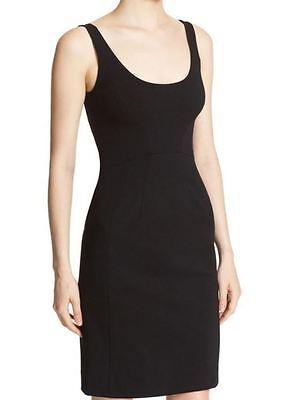 DVF Diane Von Furstenberg NWT$298 Black Geovana Jersey Knit Body-Con Dress Sz.12 Jersey Knit Body