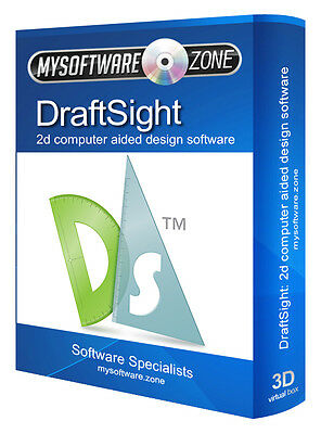 DraftSight 2017 2D CAD - Uses AutoCAD DWG File - Computer Aided Design Software