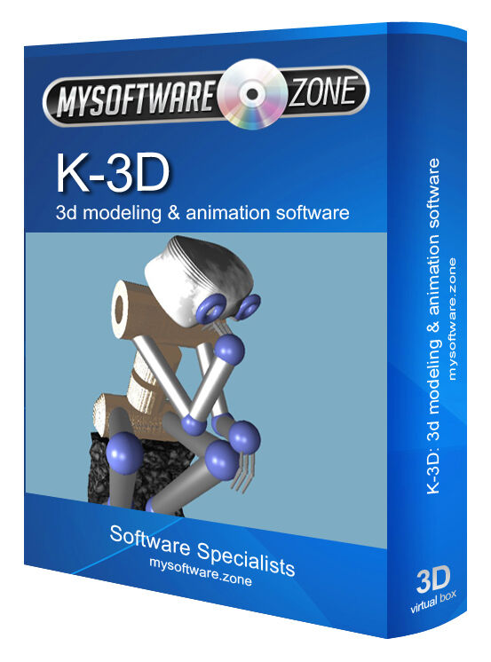 K-3D Modeling Animation Design Studio Software Computer Programm