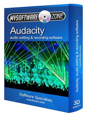 Sound Editing Software - STUDIO MUSIC MP3 AUDIO SOUND EDITING RECORDING SOFTWARE PRODUCT