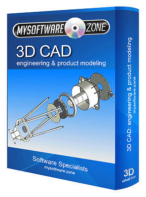 3D CAD - Mechanical Engineering & Product Design Modeling Modelling Software CD