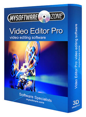 Video Editor Pro - Video Editing Software CD PC 32 64 bit DVD AVI MPEG MP4 Edit