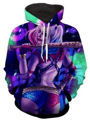 2018 Fashion Women/Men Harley Quinn 3D Print Casual Hoodie Sweatshirt R115 - Harley Quinn Hoodie