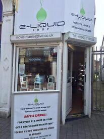 Vape shop business for sale