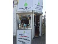 Vape shop business for sale