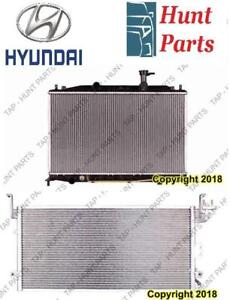 All Hyundai AC compressor Condenser Radiator Support Fan Cooling Compresseur AC Condenseur Radiateur Support Ventilateur