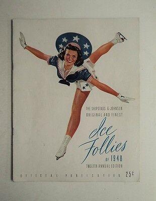 1948 Ice Follies Magazine Program Shipstads & Johnson Ice Arena Show  FLASH SALE
