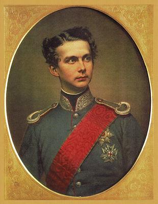 König Ludwig II. Portrait nach Original um 1864 von Wilhelm Tauber Faksimile 07