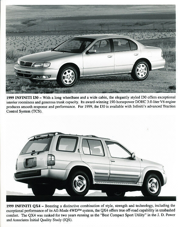 1999 Infiniti I30 Factory Press Print and Sales Sheet
