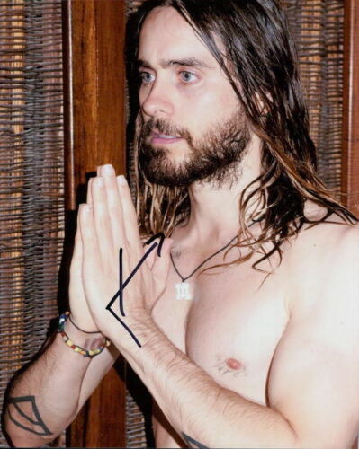 Jared Leto shirtless in-person signed 8x10 photo