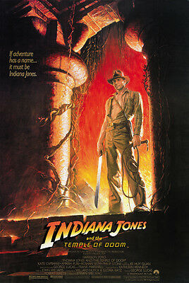 Indiana Jones And The Temple Of Doom  1984  Harrison Ford Movie Poster 24X36 A