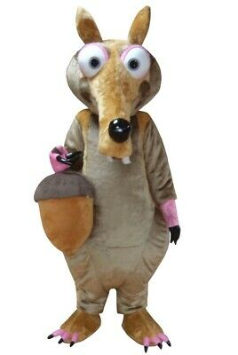 Unisex Squirrel Mascot Costume Animal Props Adult Cosplay Hallowen Birthday Gift New Mascot Costume