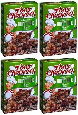 Tony Chachere's Creole Dirty Rice Dinner Mix 4 Box Pack ()
