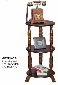 Corner plant stand made from solid hardwood and wood veneer….$89