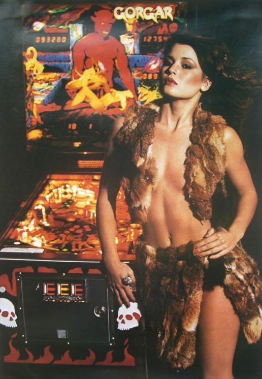 Gorgar Pinball Machine Williams Poster Rare Original Promo Item