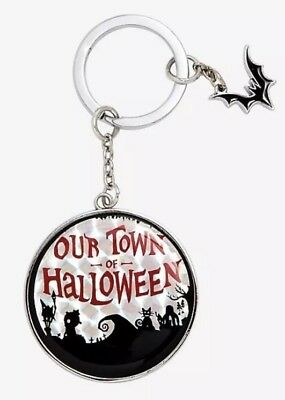 Disney The Nightmare Before Christmas Halloween Town Holographic Keychain - Disney Halloween Town