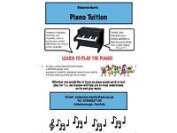 Piano Tuition in Attleborough, Norfolk.