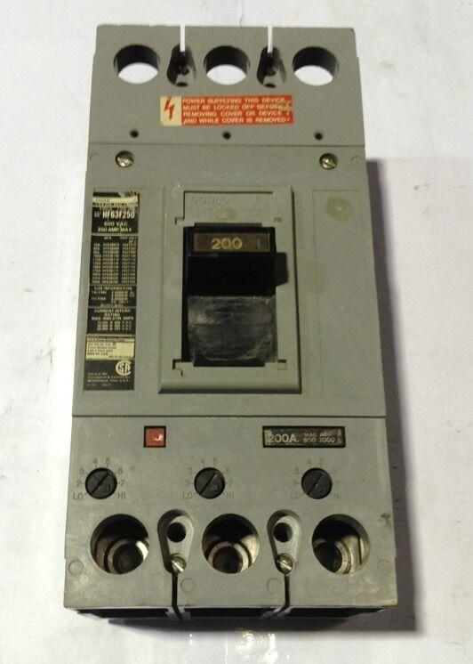 HF63B200 Gould ITE Circuit Breaker 3 Pole 200 Amp 600V