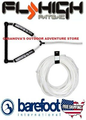 BAREFOOT INTERNATIONAL FLY HIGH WAKEBOARD 100 POLY E PLUS LINE ROPE HANDLE COMBO
