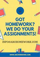 WE WILL HANDLE ANY HOMEWORK FOR YOU