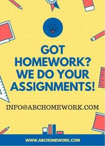 HOMEWORK / ASSIGNMENTS DONE ON TIME!