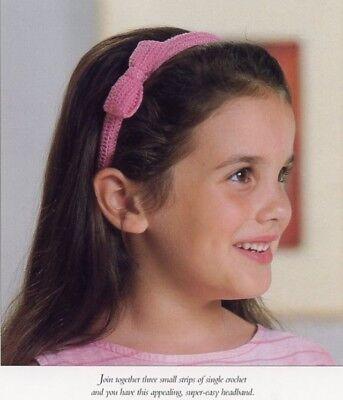Girl's Headband with Bow Vanna Crochet Pattern/Instructions