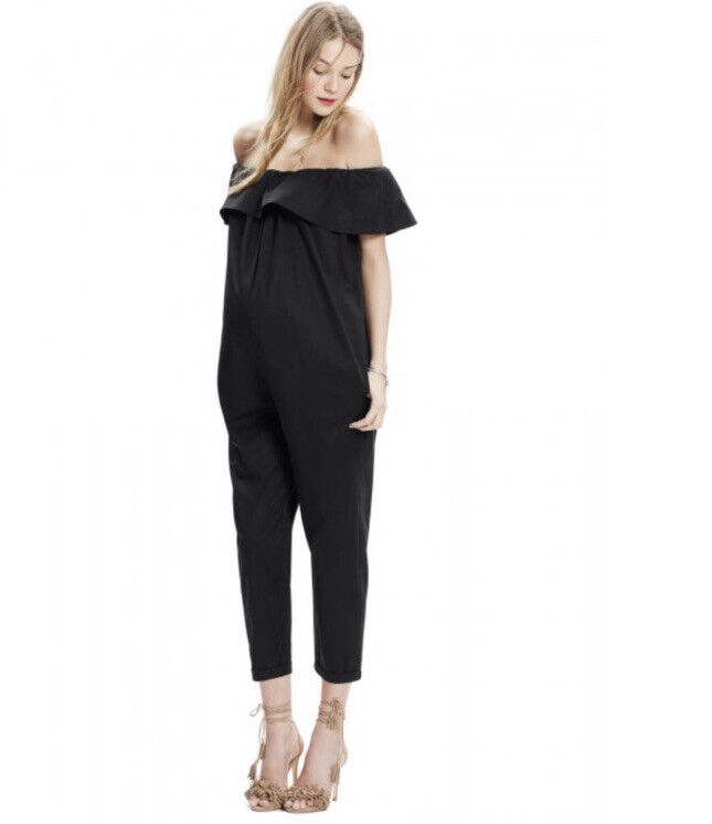 Hatch Chloe Jumper Maternity Jumpsuit O/S Black